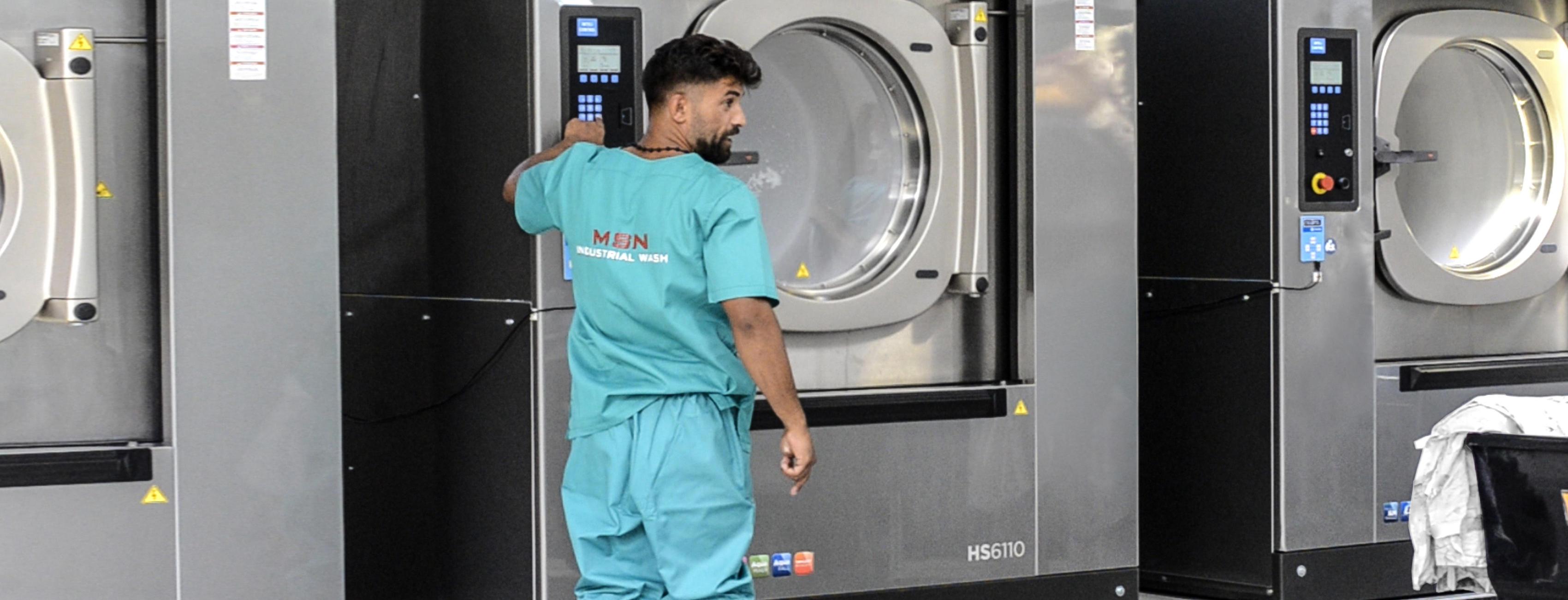 extrem de elegant New York 100% autentic MSN Industrial Wash, spalatorie, curatatorie hoteluri si restaurante